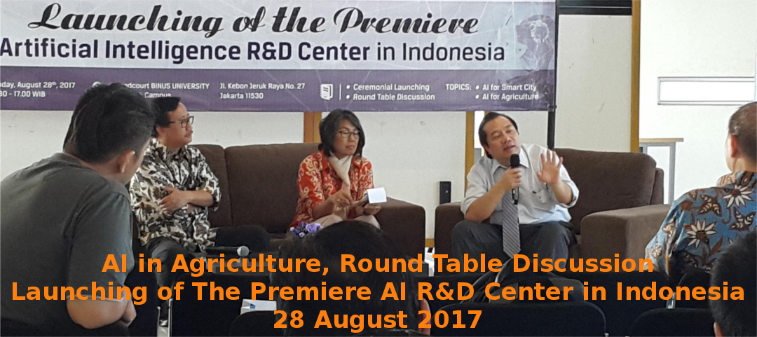 AI in Agriculture, Round Table Discussion, Launching of the Premiere AI R&D Center in Indonesia