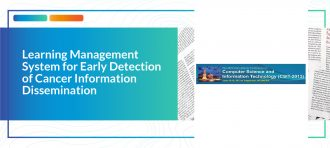 Learning Management System for Early Detection of Cancer Information Dissemination