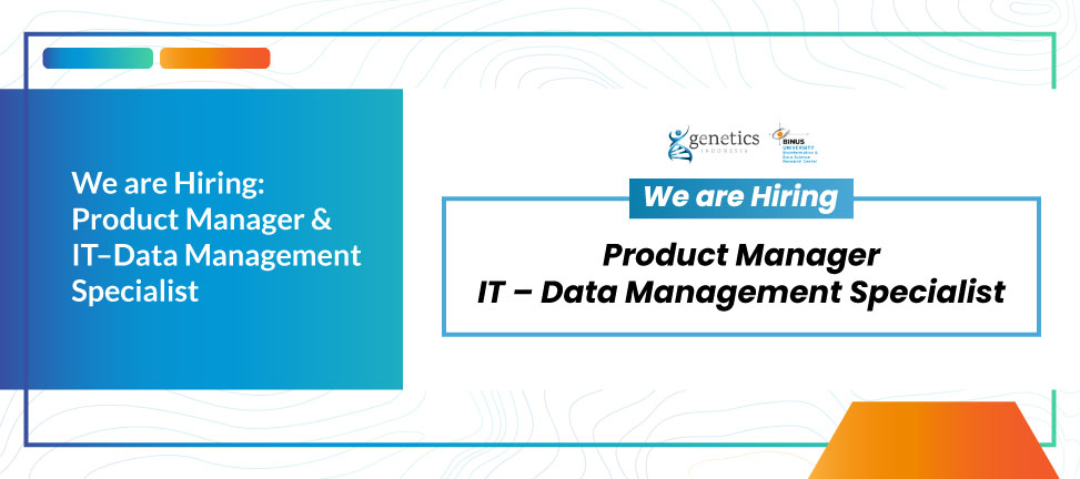 We are Hiring: Product Manager & IT–Data Management Specialist