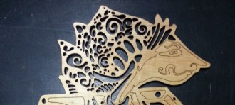 Some items produced by CNC machine